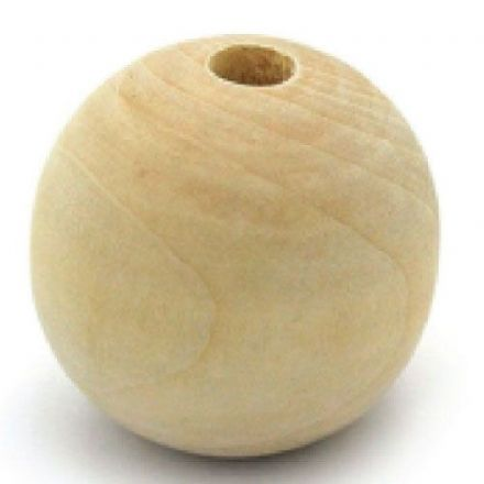 12mm Wooden Balls - Half-Drilled -  Beechwood